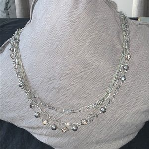 Beautiful silver necklace